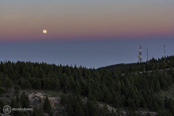 Foto de la Luna llena desde el Mirador del Pico de Las Nieves