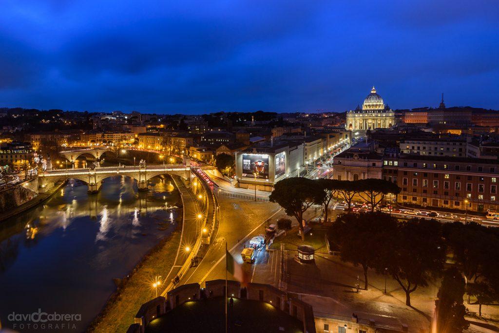 Foto de Roma desde el Castillo de San Angelo